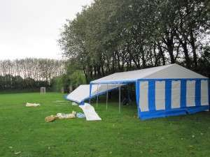 Opsætning af telte