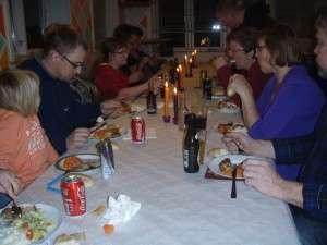 Hyggelig fællesspisning på Notmark Skole