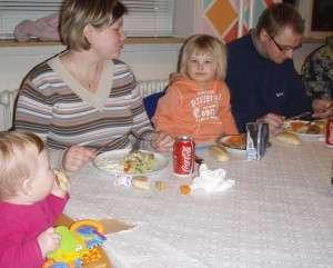 Det er nemt for børnefamilier at spise på Notmark Skole.